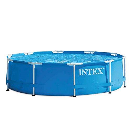 Intex 28202 Metal Frame Piscina con Pompa Filtro, 4500 Litri, Blu, 305 x 76 cm