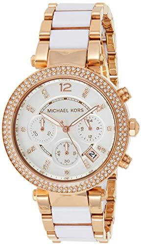 Michael Kors Orologio Cronografo Quarzo Donna con Cinturino in Acciaio Inossidabile MK5774