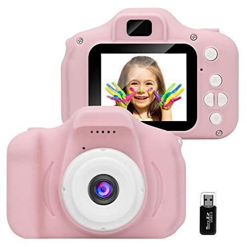 GlobalCrown Fotocamera Bambini,Mini Ricaricabile Fotocamera Digitale per Bambini...