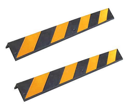 SNS SAFETY LTD RCG-131x2 Paraspigoli in gomma, spessore 8 mm, per parcheggi e magazzini,...