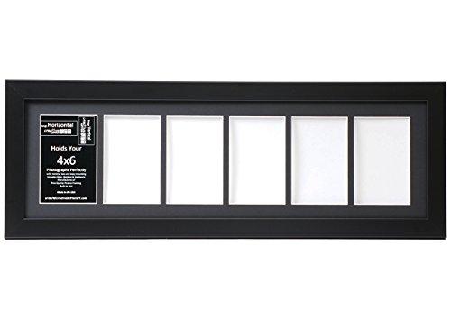 Creative Letter Art [8 x 26 bk-b] Cornice portafoto nera con apertura a 6 scomparti per...