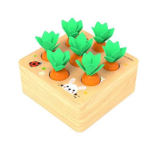 Felly Giocattoli Montessori Legno, Puzzle Legno Giochi per Bambini Carotina, Gioco...