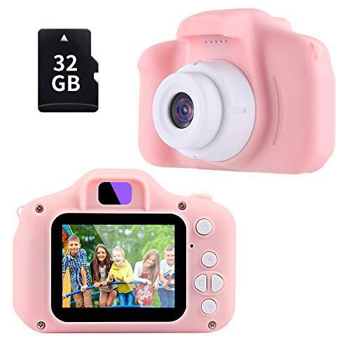 TekHome Nuova Macchina Fotografica Bambini Rosa 3-10 Anni con Giochi, 8MP 1080P Fotocamera...