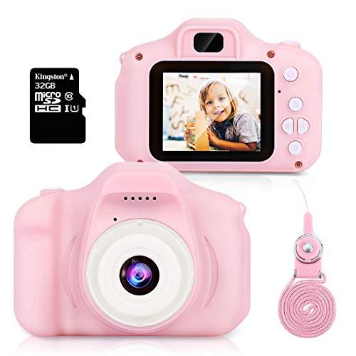 Hommie Macchina Fotografica per Bambini Fotocamera 1080 HD 32G SD(Incluso) Selfie...