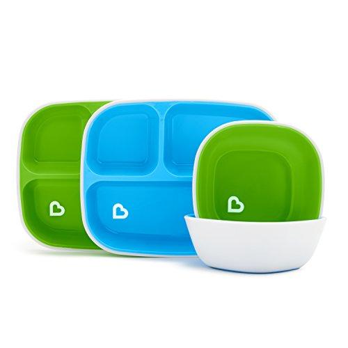 Munchkin Splash - Set da pranzo con piatto e ciotola, 4 pezzi