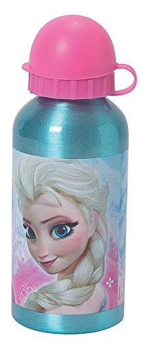 FUN HOUSE 005250Borraccia Alluminio per Bambini, Motivo Frozen Alluminio Blu 6,4x...