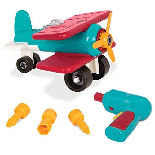 Battat- Take Apart Airplane Giocattolo Aeroplano, Colore Blu e Rosso, BT2517Z