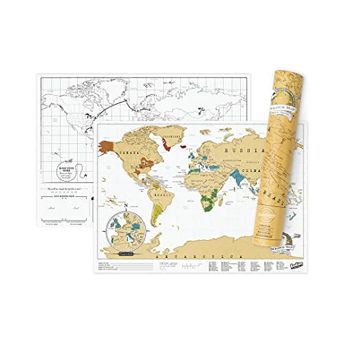 Luckies of London Scratch Map Travel Edition – Mappa del mondo da grattare in formato...