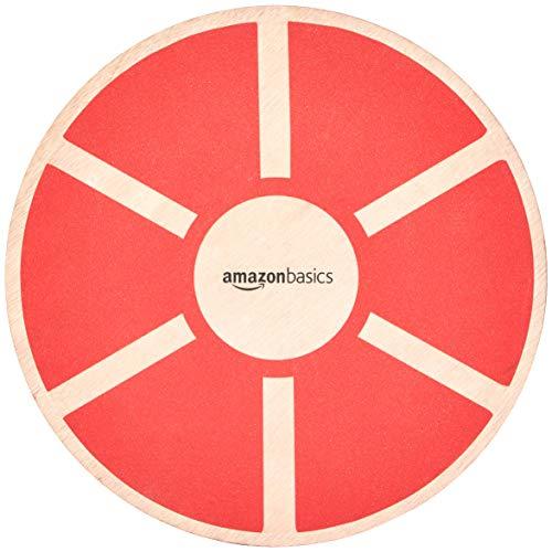 AmazonBasics, Balance board oscillante in legno, Rosso