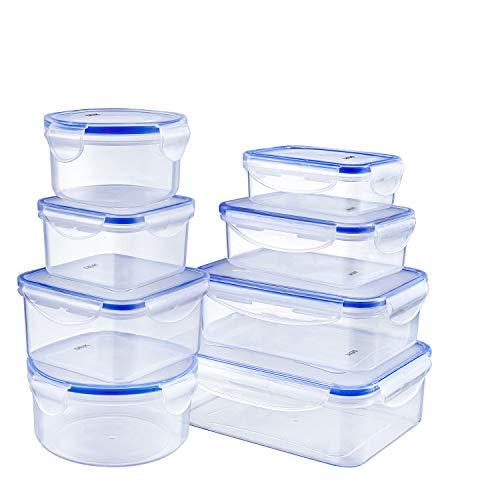 Deik Set di Contenitori per Alimenti Senza BPA, Impilabile 8 Pezzi, Certificato LFGB,...