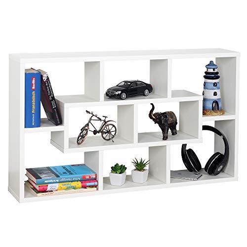 RICOO WM050-W Scaffale da parete 85x48x16cm Mensola da muro Libreria sospesa Organizer...
