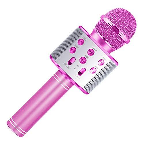 Microfono per Bambini Karaoke, Macchina per Canto Ragazza Microfono Famiglia Regalo per...
