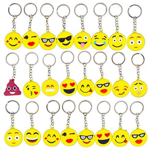 Gudotra Emoji Portachiavi Smile Gadget Regalo Pensierini Bomboniere Compleanno Bambini...
