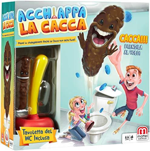 Mattel Games FWW30 Acchiappa la Cacca con Toilet Incluso, Gioco da Tavolo per Bambini, 5 +...