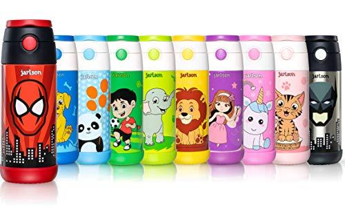 Jarlson Borraccia Bambini Acciaio Inox, Bottiglia Termica, Senza BPA, Bottiglia Acqua con...