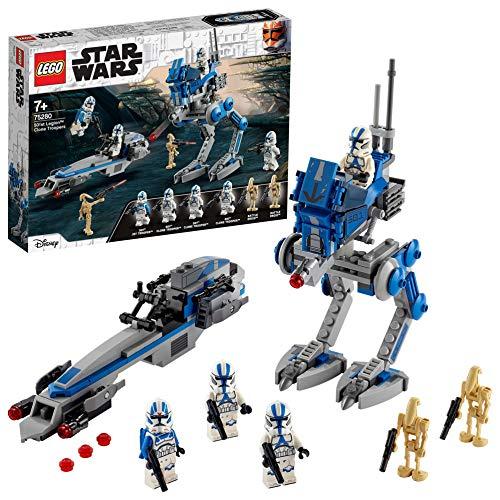 LEGO Star Wars Clone Trooper della Legione 501 Walker AT, BARC Speeder e Droidi da...