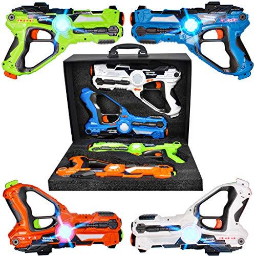 deAO Pistole Laser a Infrarossi Set di 4 Armi Giocattolo Colori Diversi con Funzione di...