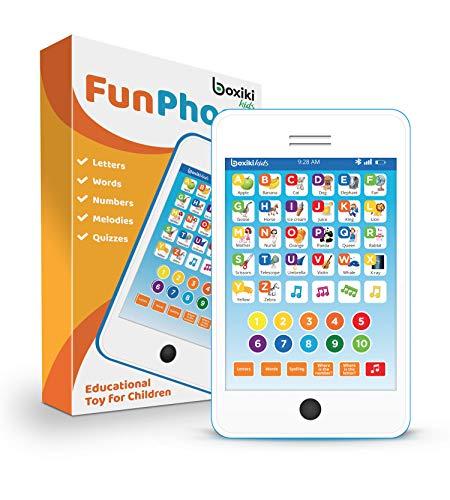 Boxiki kids Tablet Phone per Bambini con 6 Giochi educativi interattivi Tablet per Numeri...