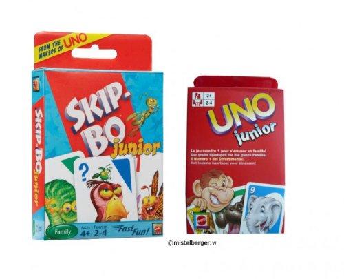 T1882 Mattel Skip-Bo Junior e Junior 52456 gioco di carte UNO