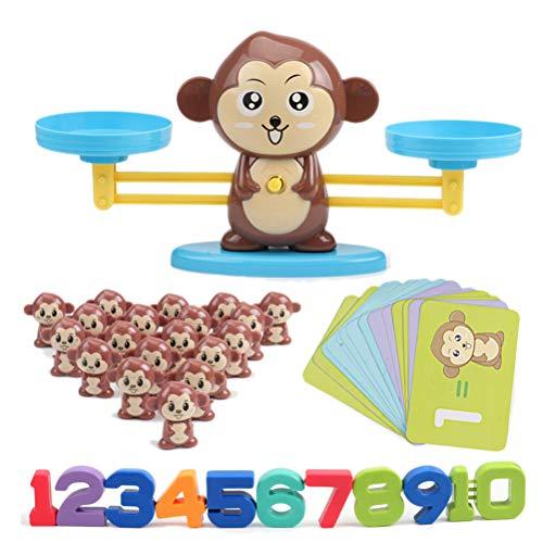 FuYouTa Giocattoli Matematici Bilancia Digitale Bilancia Gioco Monkey Balance Scale per...