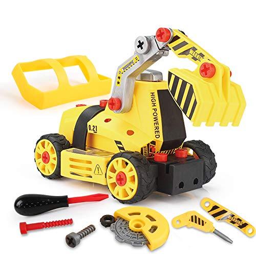 BeebeeRun 7 in 1 Giocattoli Bambino 4 Anni,Costruzione per Bambini, Cars Auto Camion Set...