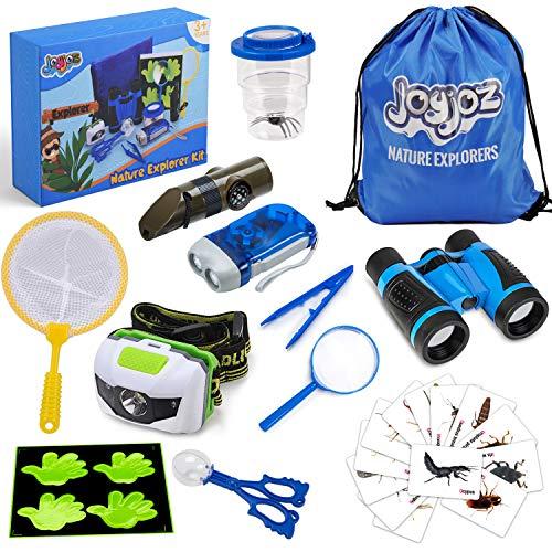 Joyjoz 12 Pezzi Kit dell'esploratore per Esterni, binocolo Bambini, educativo scientifico...