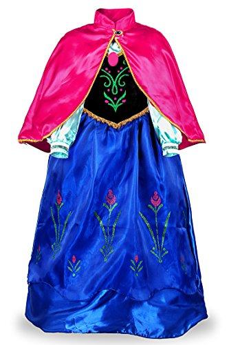 JerrisApparel Principessa Partito Costume Cosplay Vestire (110cm, Blu)