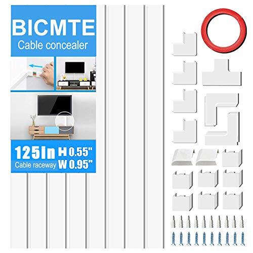 Canaline Elettriche | Nascondi Cavi | TV elettrici Wire DEL CAVO TIDY PLASTICA COPRI FILI...