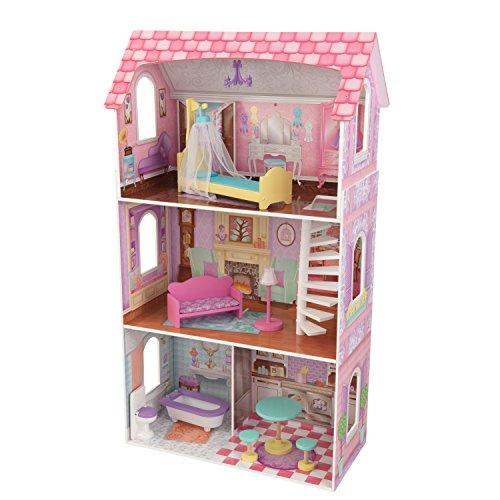 Kidkraft 65179 Casa delle Bambole in Legno Penelope per Bambole di 30 Cm con 9 Accessori...