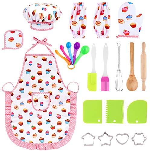 Xruison Giocattoli da Cucina per Bambini 23 PCS Kit da Cucina Set da Gioco Pentole...