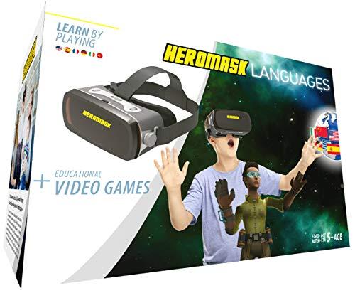 Heromask: Visore 3D Bimbo + Giochi Educativi Inglese, Spagnolo... [ Regali Originali ] -...