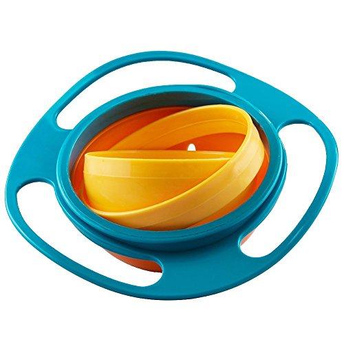 Jzhen 360 Gradi Ciotola del Giroscopio, Ciotola Girevole Bambini in Plastica Rotazione...
