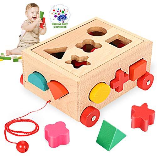O-Kinee Gioco Forme Incastro Classic Toy Cubo Giocattolo Educativo in Legno Gioco...
