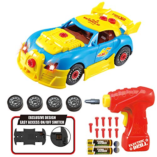 Think Gizmos TG642 smontare Racing Construction Toy Kids-Build Your Own Kit per Auto,...