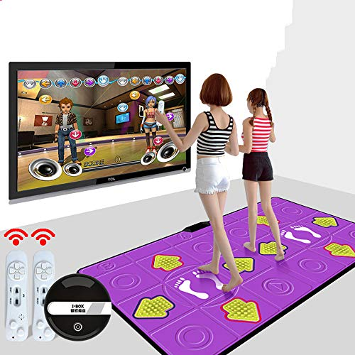 Tappetino da Danza Doppia Console di Gioco HD Macchina per Perdere Peso Adulta per Bambini...