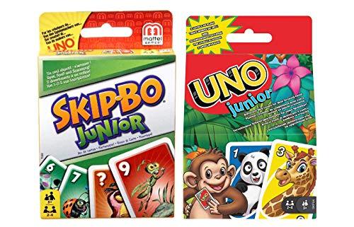 Mattel T1882 Skip-Bo Junior e 52456 UNO Junior Gioco di carte