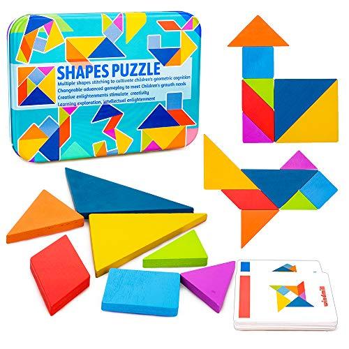 Mirabee Giochi per Bambini di 4-8 Anni,Giocattoli Educativi di 3-7 Anni Puzzle Tangram per...