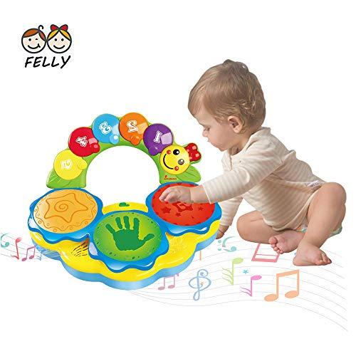 Felly Tamburo Giocattolo Musicale per Bambini - Strumenti Musicali con Adorabili Suoni -...