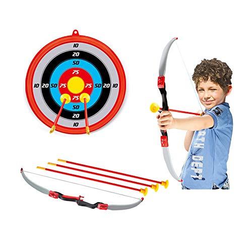 Bambini Tiro con l'arco Arco Freccia Giocattolo Set con Obiettivi, Ventosa Frecce Funzione...