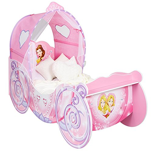Disney HelloHome Passeggino per Bambine, Tema: Principesse, Legno, Pink, 160x87.5x136 cm