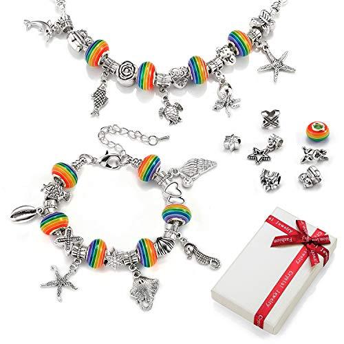 Braccialetto con ciondoli Kit fai-da-te ragazze adolescenti,braccialetti Calendario...