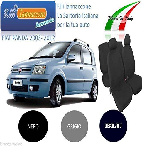 COPRISEDILE COPRISEDILI FODERA AUTO SU MISURA PER FIAT PANDA 5 PORTE COLORE GRIGIO DEL...