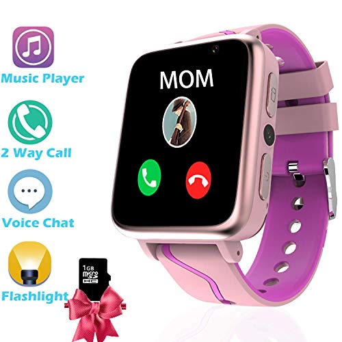 Kids Smartwatch with MP3 Music Player – Boys Girls Smart Watch 2 Way Phone Call,...