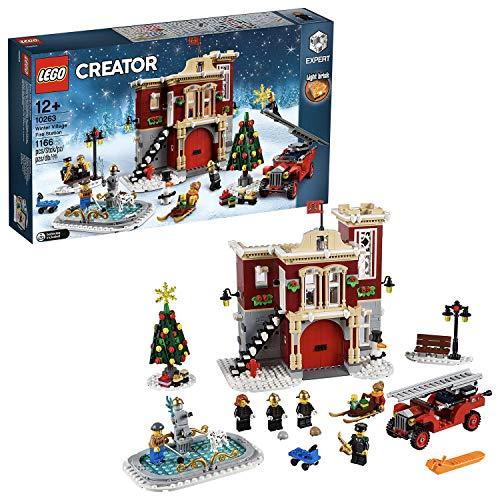 LEGO 10263 Creator Expert Winter Village Fire Station, Stazione dei vigili del fuoco per...