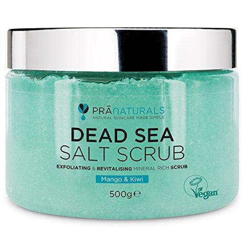Pranaturals Scrub Corpo Rivitalizzante ai Sali del Mar Morto 500g, Esfoliante, Nutriente e...