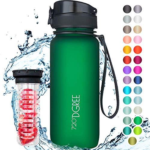 "720°DGREE Bottiglia d'Acqua ""uberBottle"" - 650 ml +Infusore, Tritan Senza-BPA, Prova..."