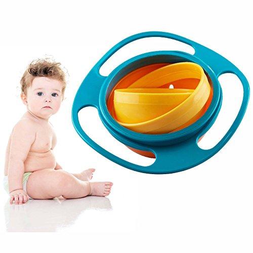 Gearmax Ciotola per Bambini Non Fuoriuscita Bambino Ciotola Girevole Rotante Ciotola