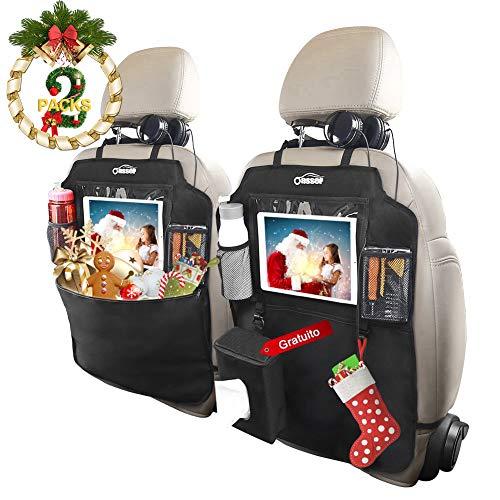 Oasser Protezione Sedili Auto Bambini 2pcs Proteggi Sedile Organizzatore Sedile Posteriore...