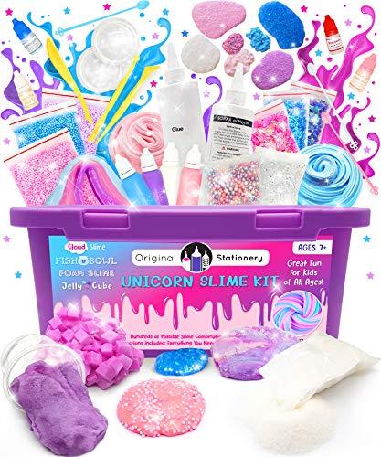 Original Stationery Kit Completo per Slime Unicorno – Laboratorio Slime per Bambine...