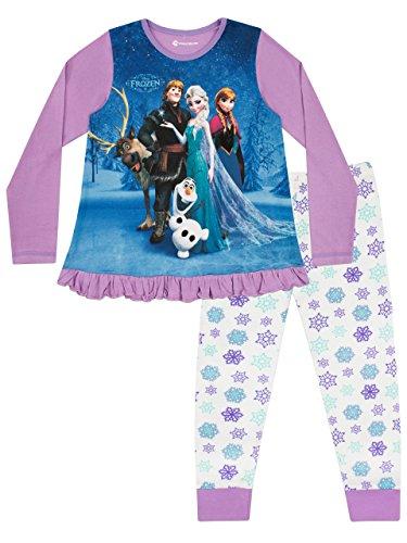 Disney Pigiama a Maniche Lunghe per Ragazze Frozen 6-7 Anni
